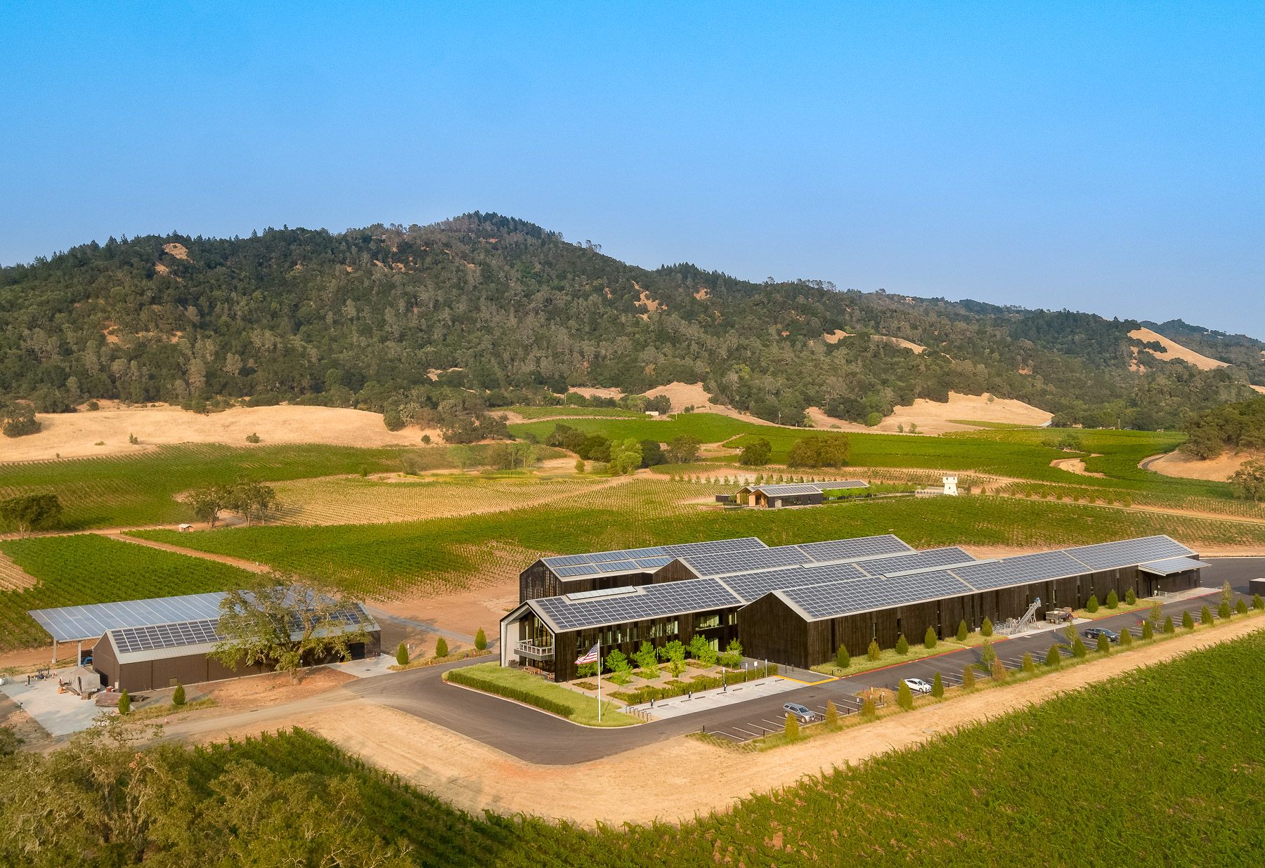 silver oak winery aerial
