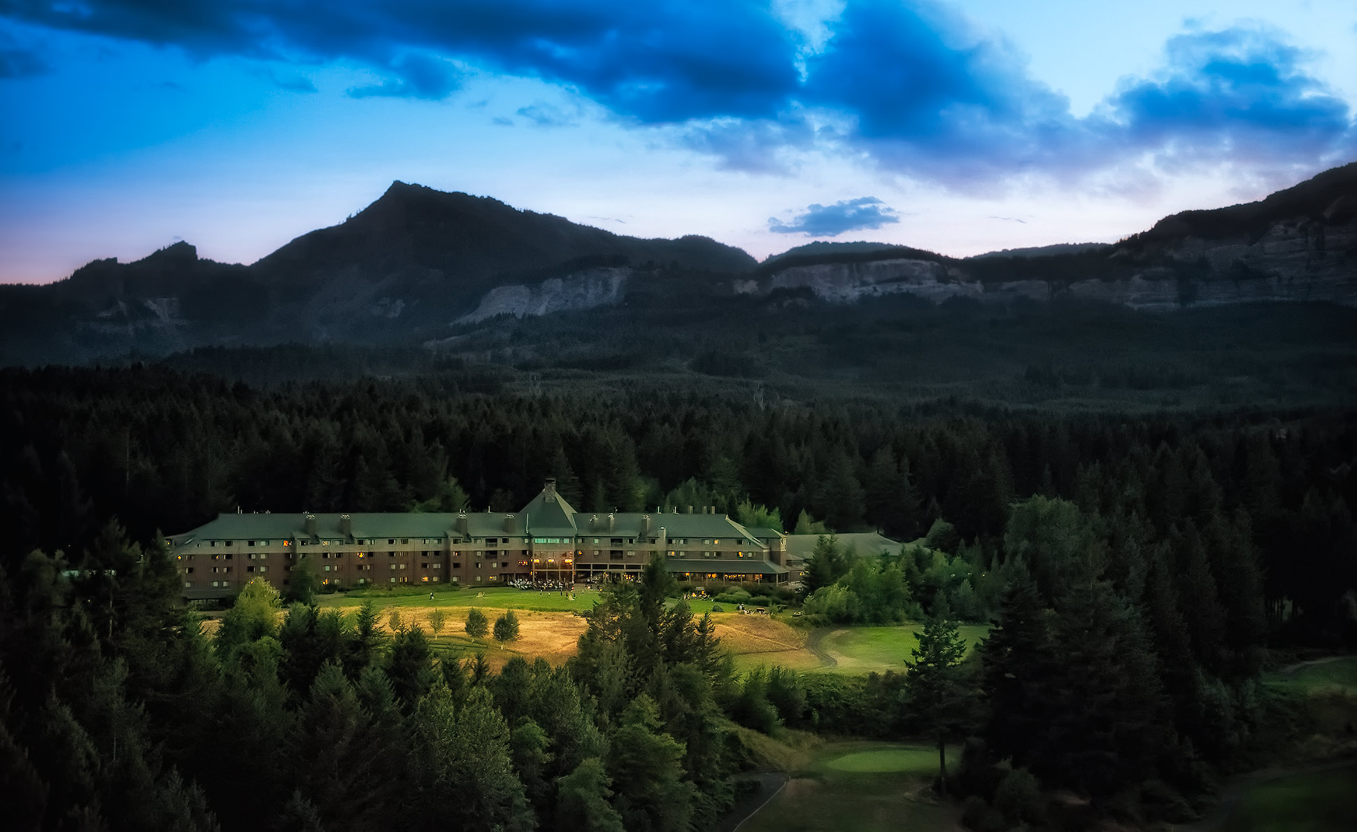 skamania lodge aerial