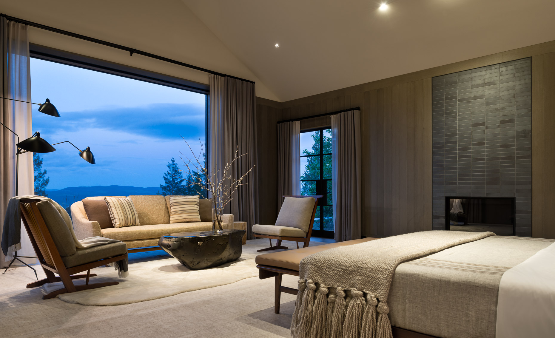wine country bedroom interior