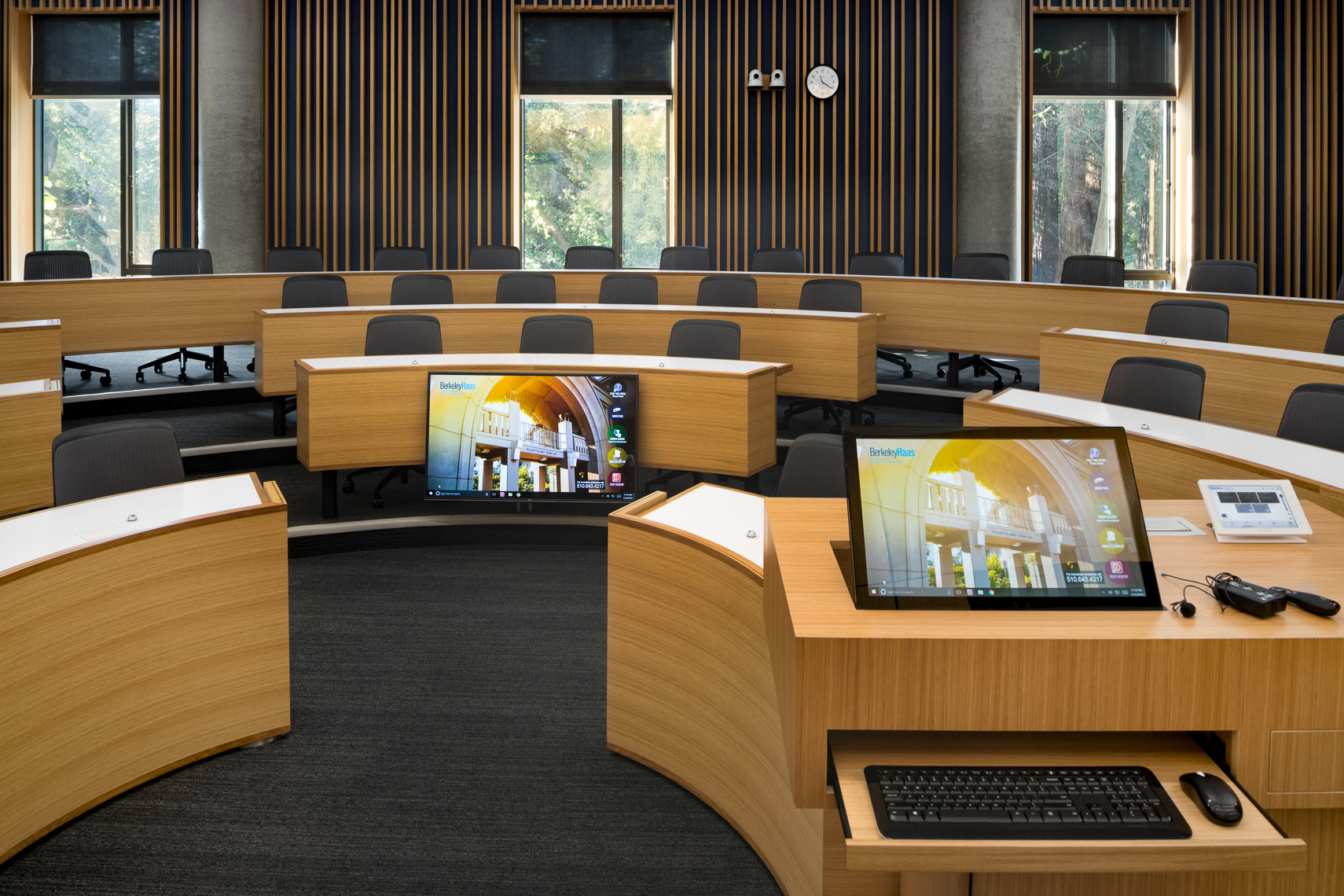 auditorium at haas school of business