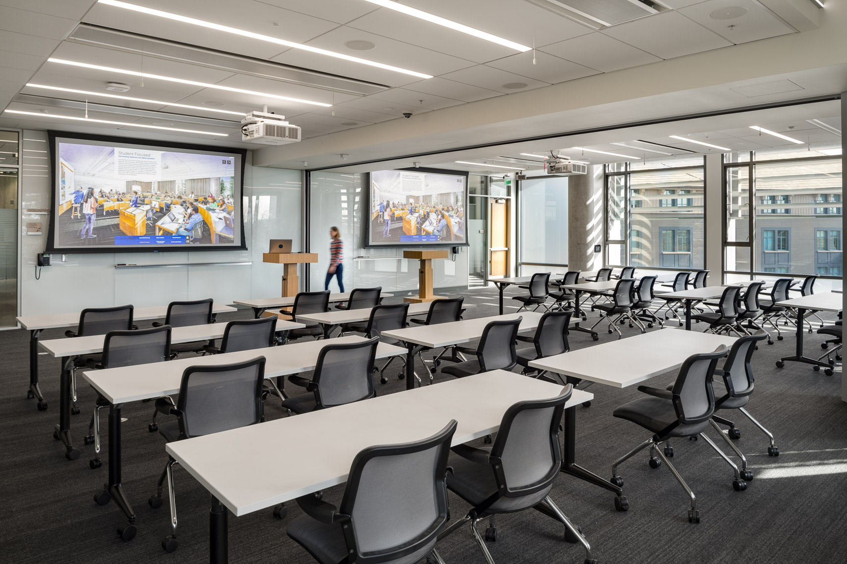classroom at haas school of business